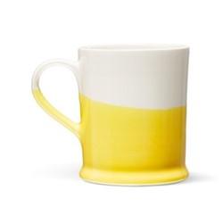 Colour Dip Mug, H10cm, Yellow