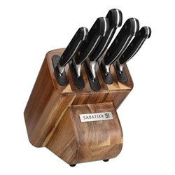 Edgekeeper Knife block with 5 knives, wood