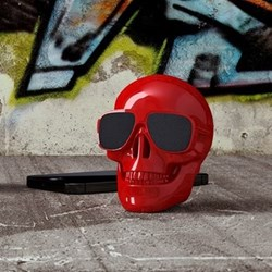 AeroSkull Nano Bluetooth speaker, H7.6 x W6 x D7.5cm, gloss red