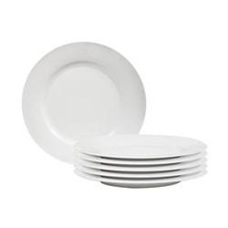 Fenton Set of 6 dinner plates, D27 x H2.4cm, white