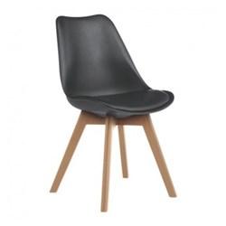 Jerry Dining chair, W47 x H84 x D55cm, black
