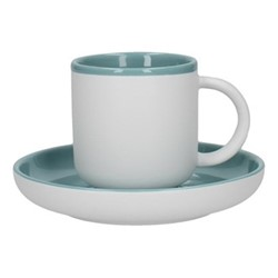 Barcelona Espresso cup and saucer, 130ml, retro blue