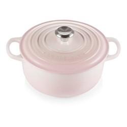 Signature Cast Iron Round casserole, 20cm - 2.4 litre, shell pink