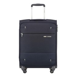 Base Boost Spinner suitcase, 55 x 40 x 20cm, navy blue stripes