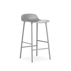 Form Bar stool, L44 x H87 x D44cm, Grey