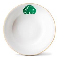 Tropical Leaf Cereal bowl, H5.5 x Dia18cm, gold rim