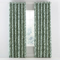 Costa Rica Fern Curtains, 168 x 183cm, green