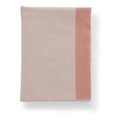 Colour Patchwork Merino throw, 190 x 140cm, blush/khaki/teal