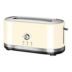 Manual control Long slot toaster, almond cream