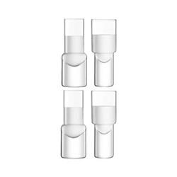 Vodka Set of 4 shot glasses, 50ml, clear
