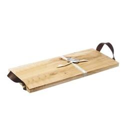 Serving tray, L45 x W20 x H2cm, oak
