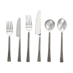 Usa Set of 24 cutlery set, brushed silver