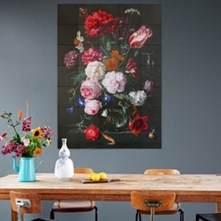 Art - Flowers Dark & Light Wall decoration, 100 x 140cm