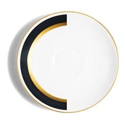 Arc Espresso saucer, D13cm, matte black/burnished gold