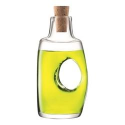 Void Vinegar bottle and cork stopper, 120ml, clear