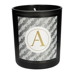 Cedarwood & Lily Scented candle, D8 x H9cm, black