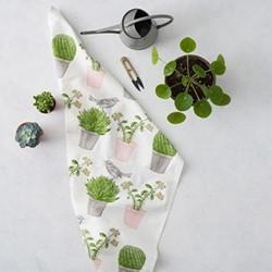Cactus & Bird Tea Towel, 50 x 70cm