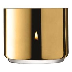 Karat Tealight holder, H7 x D8.5cm, gold