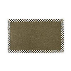 Courtly Check Rug, L152.4 x W91.44cm, black & white, brown
