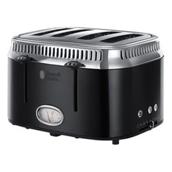 Retro - 21691 Toaster, 4 slice, black