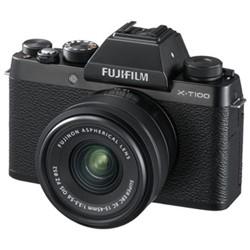 X-T100 Mirrorless camera with 15-45 mm f/3.5-5.6, 24.2MP, black