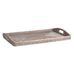 Ashcroft Medium breakfast tray, L64 x W43 x H9cm, rattan