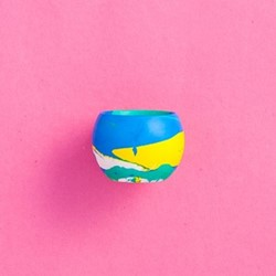 Jesmonite Egg cup, D5 x H5cm, multi-colour