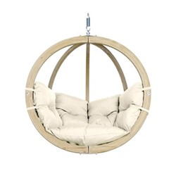Globo Hanging chair (without stand), 121 x 118 x 69cm, natura
