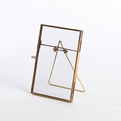 "Danta Photograph frame, 4 x 6"", antique brass"