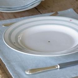 Honey Bee Stripes Set of 4 dinner plate, 29cm