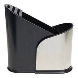 Furlo Expanding utensil holder, H24 x W10cm, black/nickel