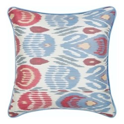Ikat Cushion, 50 x 50cm, Green/Red/Blue