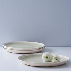 Finsbury Set of 4 dinner plates, Dia27cm, light green