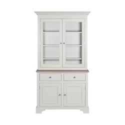 Chichester Glazed rack dresser, W115 x D49 x H209cm, shingle