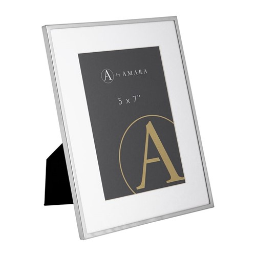 """Photograph frame, 5 x 7"""", silver plated"""