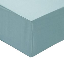 Signature Double fitted sheet, L140 x W200cm, teal