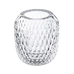 Folia Small vase, clear crystal