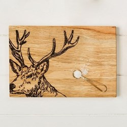 Stag Serving board, 30 x 20 x 2.5cm, engraved illustration