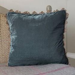 Velvet cushion, 45 x 45cm, midnight blue
