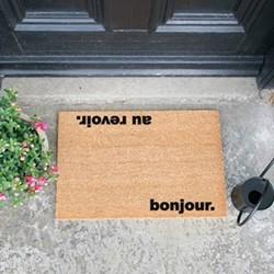 Bonjour, Au Revoir Doormat, L60 x W40 x H1.5cm