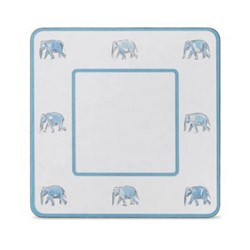 Elephant Set of 4 square table mats, 24 x 24cm