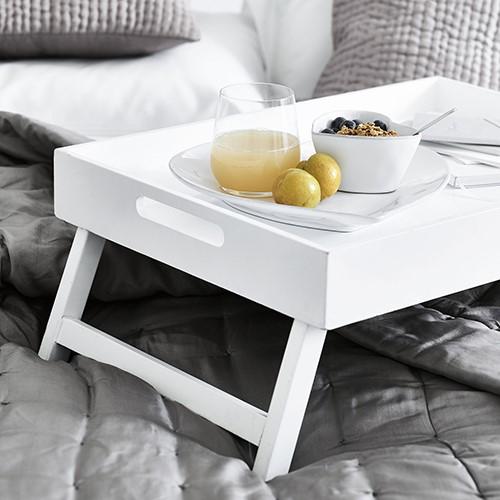 Breakfast in Bed Tray, H27 x W40 x L55cm, matte white
