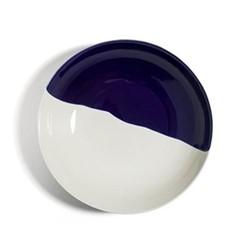 Dip Dinner plate, Dia28cm, cobalt/cream