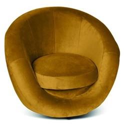 Leo Revolving tub chair, H90 x L86 x D72cm, mustard velvet