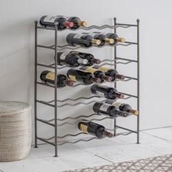 Farringdon Wine rack, H76 x W56 x D26.5cm, steel