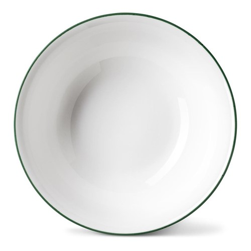 Rainbow Collection Cereal bowl, Dia16 x H5.5cm, jungle green rim