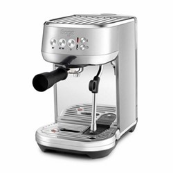 The Bambino Plus Coffee machine, W19.5 x D32 x H31cm, brushed stainless steel