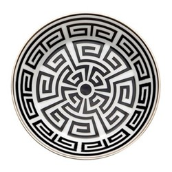 Labirinto Tea saucer, 13.5cm, nero