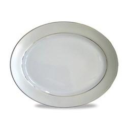 Clair de Lune Uni Oval meat dish, 34.5cm