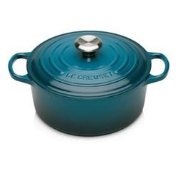Signature Cast Iron Round casserole, Dia24cm - 4.2L, deep teal